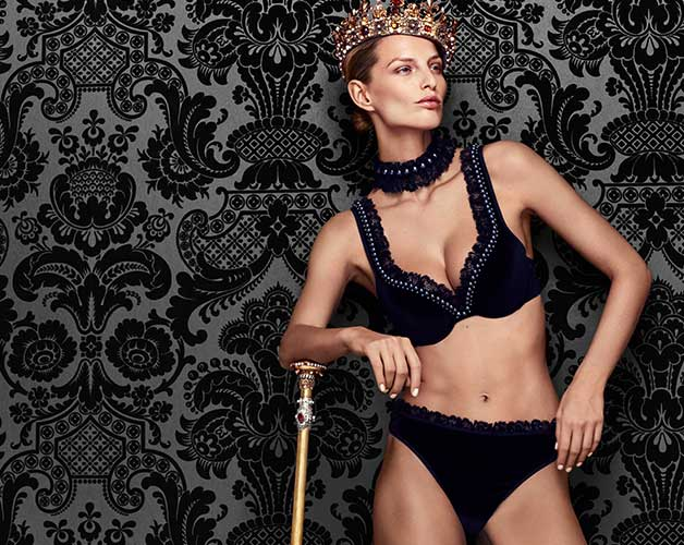 couture lingerie collection queen of pearls fW18