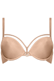space odyssey glossy camel wired padded push up bra 17151