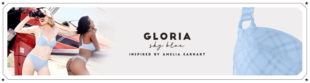 SS20 collection Gloria sky blue header banner