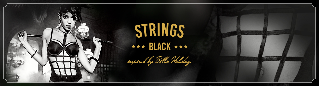FW19 collection Strings Black header banner