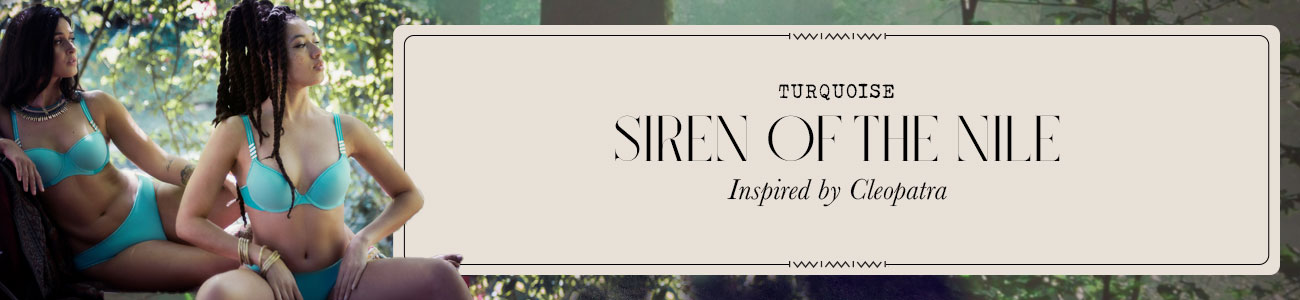 SS21 collection Siren of the Nile turquoise header banner