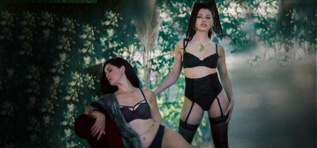 SS20 Meringue black lingerie collection