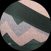 Zilveren lurex-stof met allover print