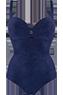 Puritsu blue plunge balcony bathingsuit