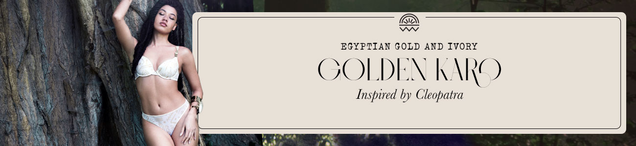 SS21 collection Golden Karo egyptian gold and ivory header banner