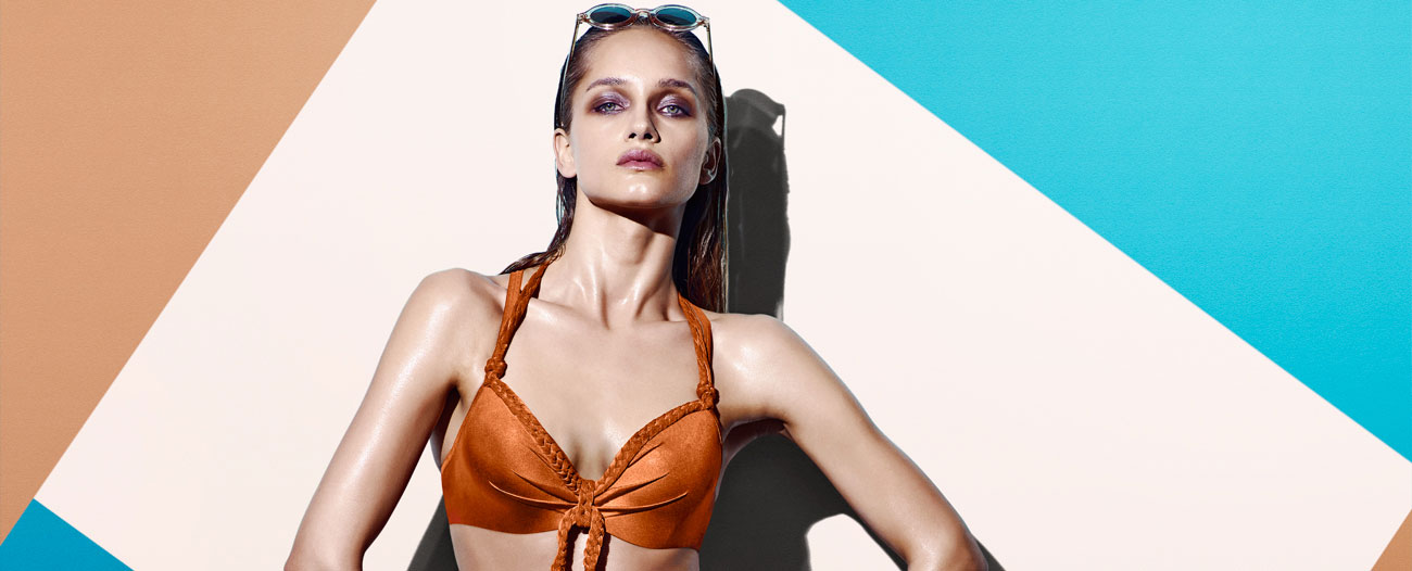 swimwear holi glamour marigold orange