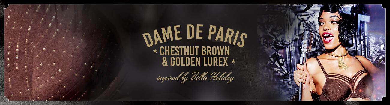 FW19 collection Dame de Paris Chestnut Brown header banner