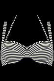 holi vintage blue ecru plunge balcony bikini top