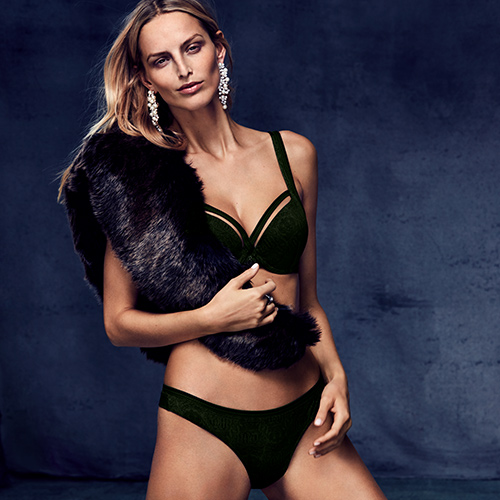 FW18 Crown Jewel pine green lingerie collection