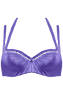 Holi Glamour Purple plunge balcony bikini top