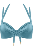 Holi Glamour aqua blue push up bikini top