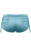 Holi Glamour aqua blue drawstring shorts