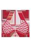 recife red navy unwired padded triangle bikinitop 2733