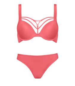 Style Triangle Rosy Coral bra