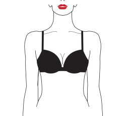 wired padded push up bra