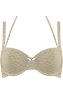 holi vintage ivory/gold plunge balcony bikini top