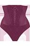 Latin lady grape purple high waist thong