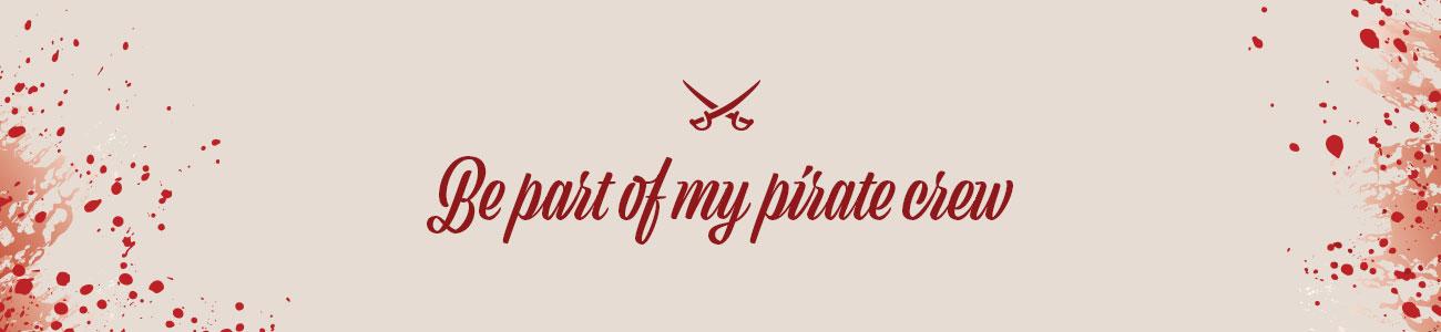 marlies dekkers be part of my pirate crew desktop banner