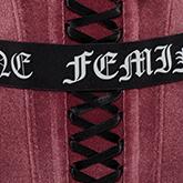 FW19 collection couture voice velvet pink velvet details
