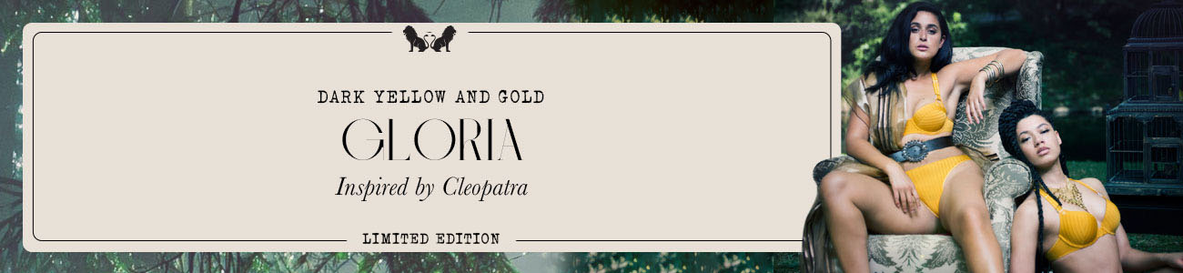 SS21 collection Gloria dark yellow & gold header banner