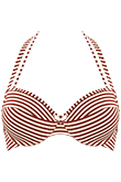 holi vintage red ecru push up bikini top