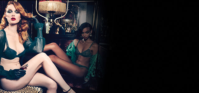 FW20 The Adventuress legion blue lingerie collection