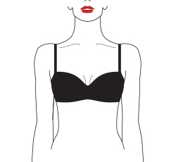 wired padded plunge balcony bra