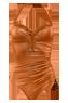 holi glamour marigold orange plunge balcony bathingsuit