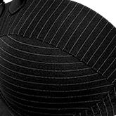 Signature Gloria Black Pinstripe details