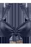 Holi Glamour blue push up bikini top