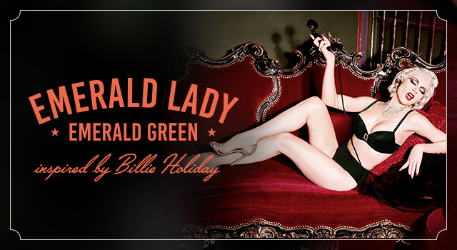 FW19 collection Emerald Lady Emerald Green header banner