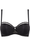 peekaboo black plunge balcony bra