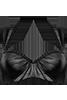 holi glamour Black plunge balconette bikini top