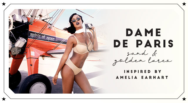 SS20 collection Dame de Paris sand golden lurex header banner
