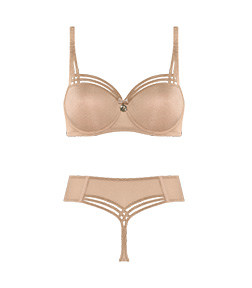 Style lingerie collection Dame de Paris Sand & Golden Lurex SS20