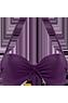Musubi Purple Plunge balcony bikini top