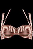 holi vintage red ecru plunge balcony bikini top